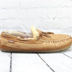 LL BEAN Wicked Good Mocs Shearling Lined Size 12 M